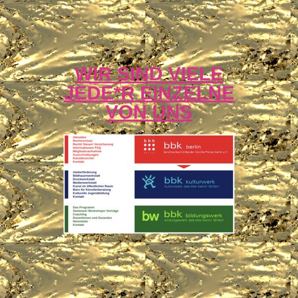 bbk berlin berufsverband bildender künstler*innen | bbk kulturwerk | bbk bildungswerk