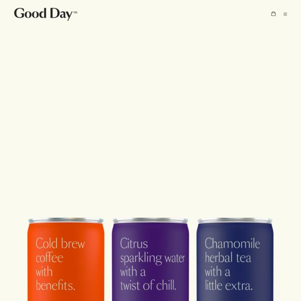 Good Day   CBD beverages for better days