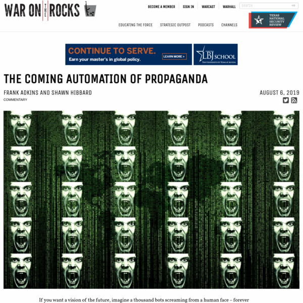 The Coming Automation of Propaganda - War on the Rocks