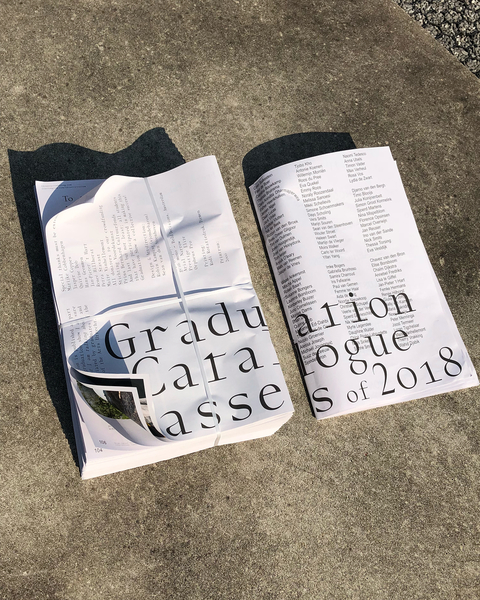 Sjon & Sean designed this years graduation catalogue. Typeface by @bold_decisions @sjondebaron @graduationshow2018 #graphicd...