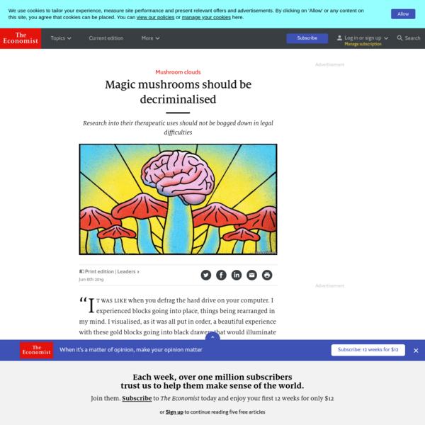 Magic mushrooms should be decriminalised - Mushroom clouds