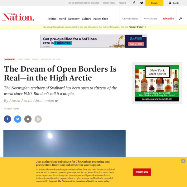 The Dream of Open Borders Is Real—in the High Arctic   The Nation