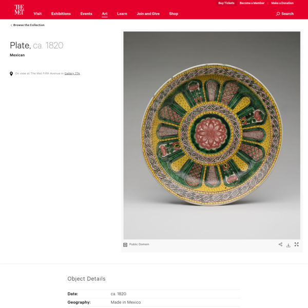 Plate | Mexican | The Met