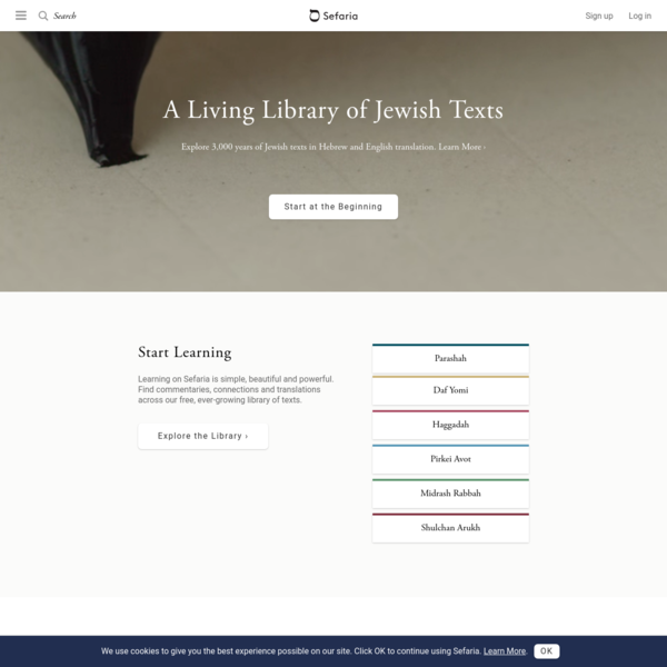 Sefaria: a Living Library of Jewish Texts Online