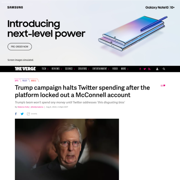 Trump campaign halts Twitter spending after the platform locked out a McConnell account