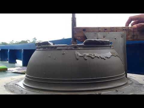 Make a concret pot
