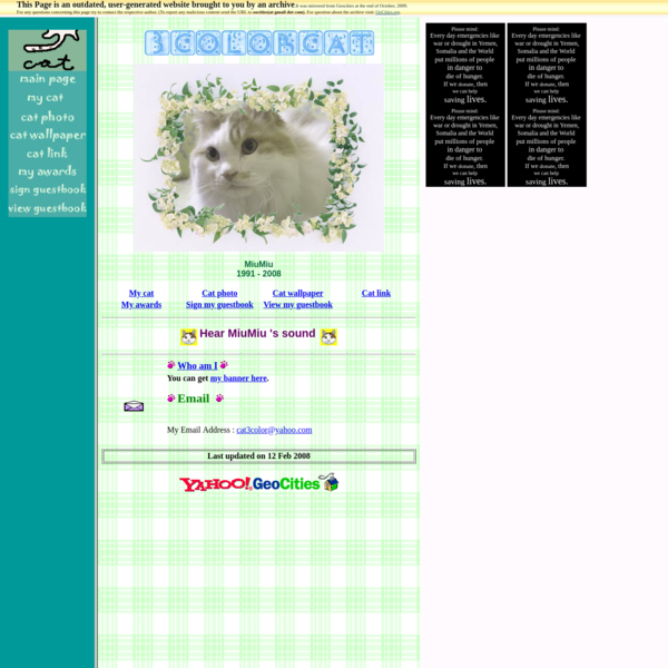 3 color cat 's homepage