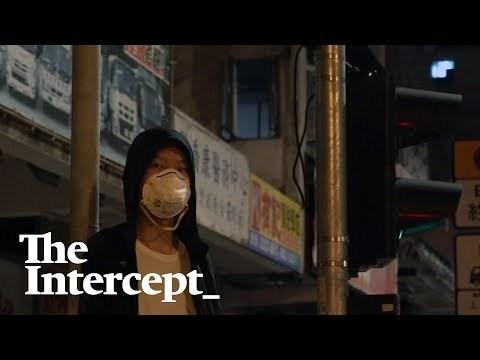 Hong Kong Protests: Umbrella on Fire