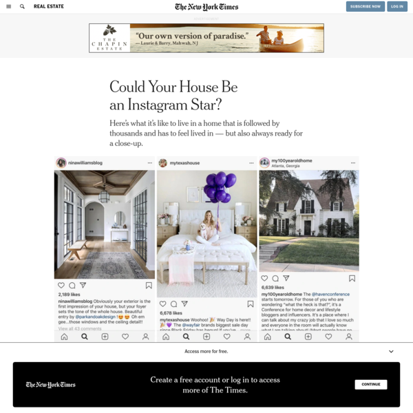 Could Your House Be an Instagram Star?