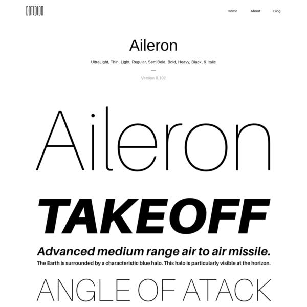 ドットコロン - フォント: Aileron