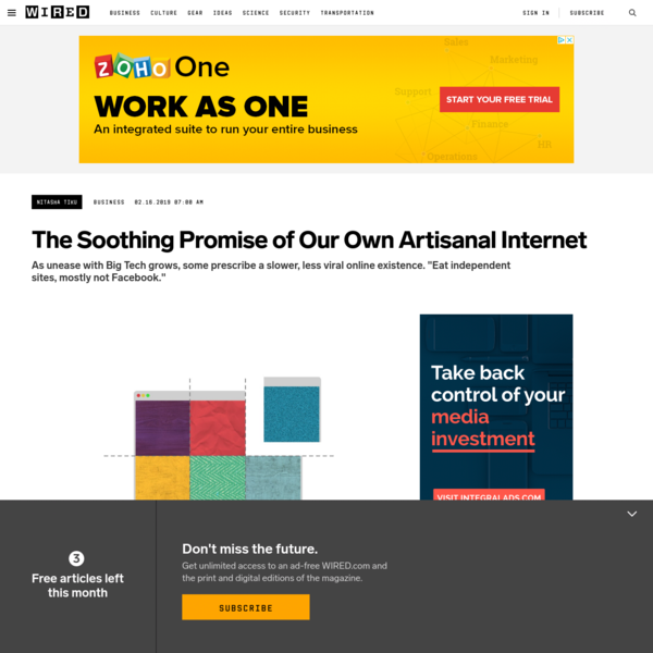 The Soothing Promise of Our Own Artisanal Internet