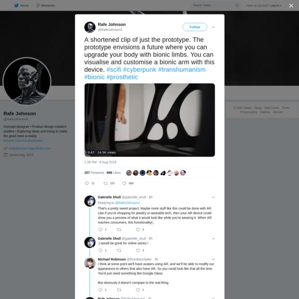 Rafe Johnson on Twitter