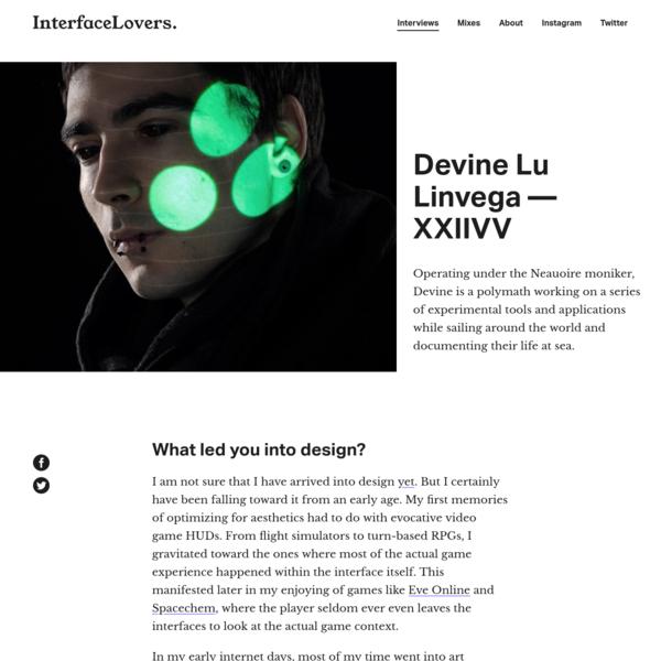 Interview: Devine Lu Linvega - XXIIVV