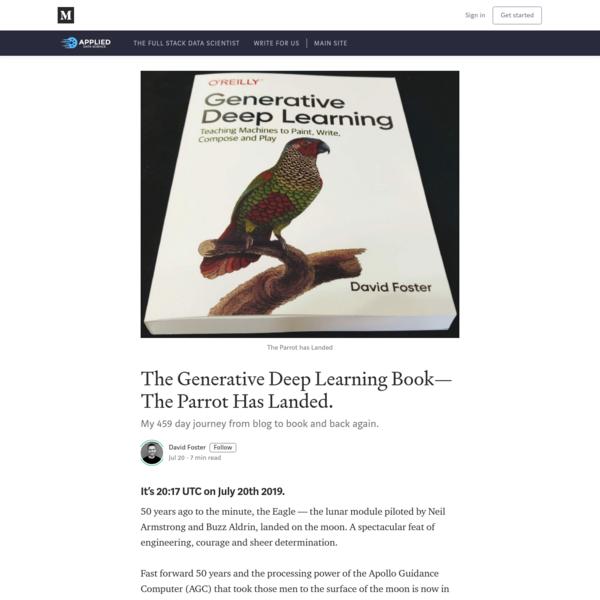 The Generative Deep Learning Book- The Parrot Has Landed.