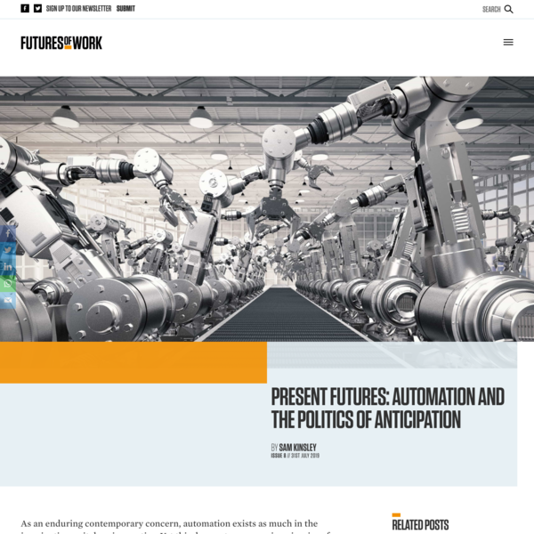 Present Futures: Automation and the Politics of Anticipation