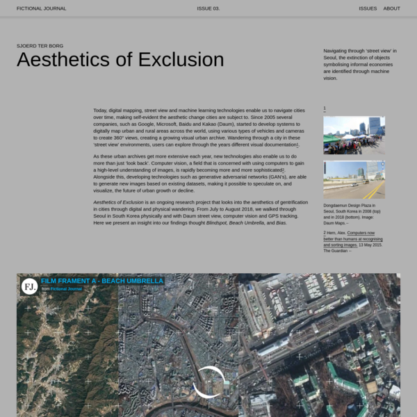 Aesthetics of Exclusion - Fictional Journal