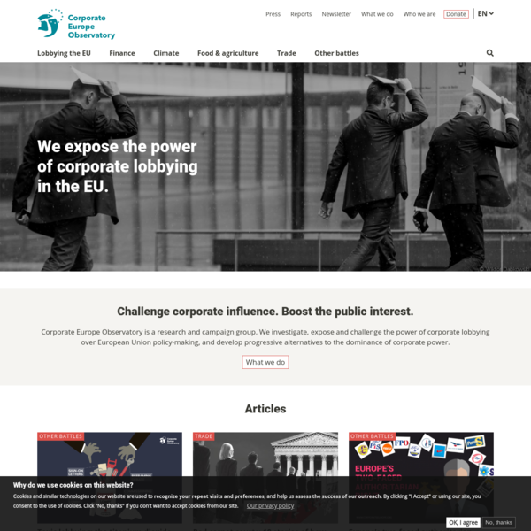 Home | Corporate Europe Observatory