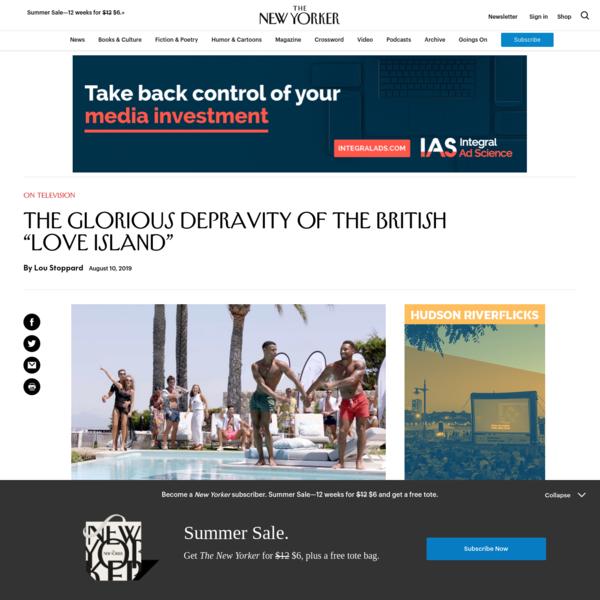 "The Glorious Depravity of the British ""Love Island"""