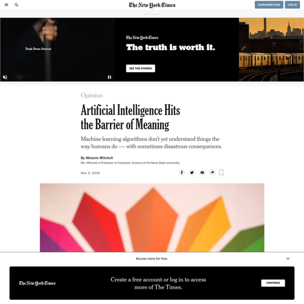 Opinion | Artificial Intelligence Hits the Barrier of Meaning - The New York Times