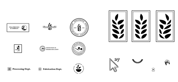 Early drafts of Inst. logo explorations