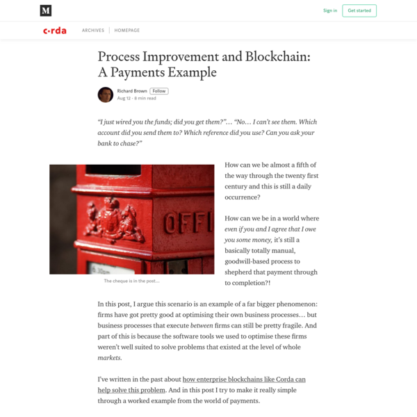 Process Improvement and Blockchain: A Payments Example