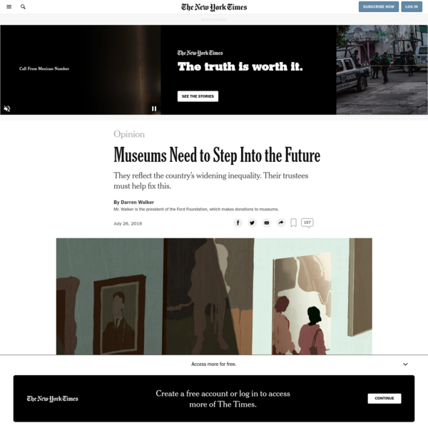 Opinion | Museums Need to Step Into the Future