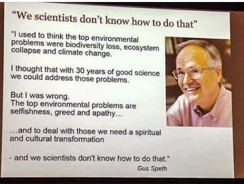 Gus Speth on environmental problems