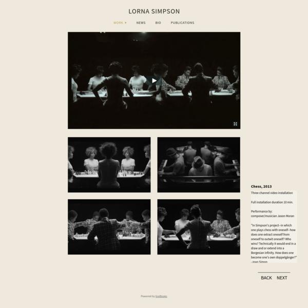 Chess, 2013 - Lorna Simpson Studio