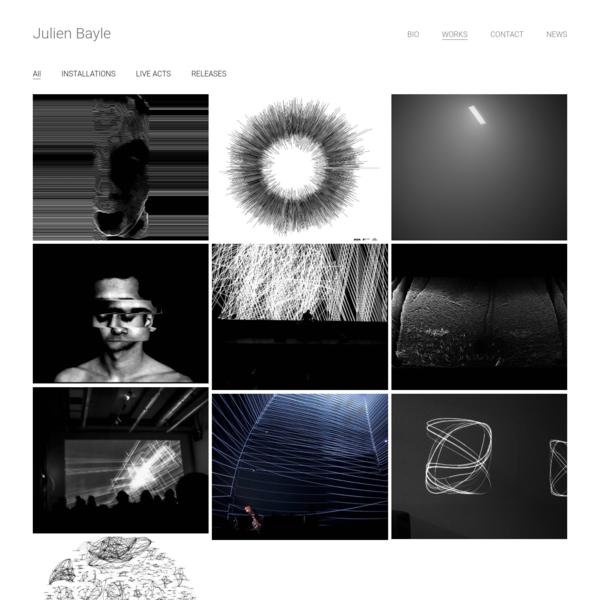Julien Bayle Artist – multidisciplinary artist
