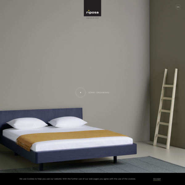 Bed Ais, the new bed from riposa, designed by Jörg Boner - riposa