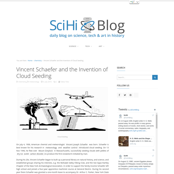 Vincent Schaefer and the Invention of Cloud Seeding - SciHi Blog
