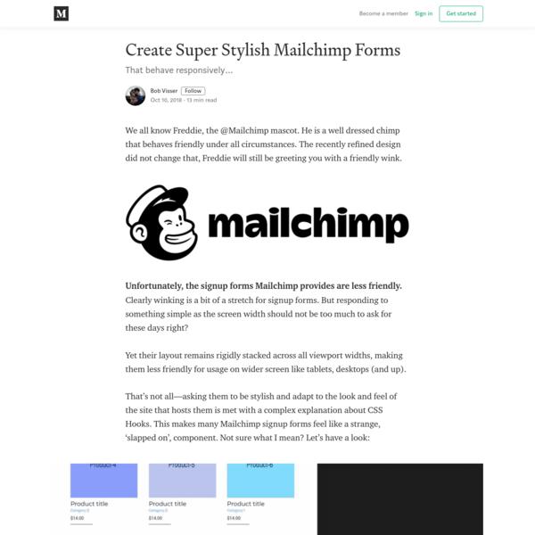 Create Super Stylish Mailchimp Forms