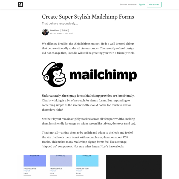 Create Super Stylish Mailchimp Forms