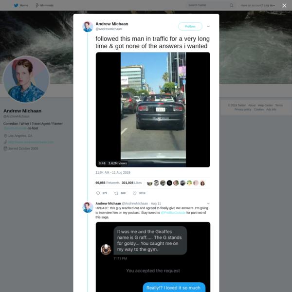 Andrew Michaan on Twitter