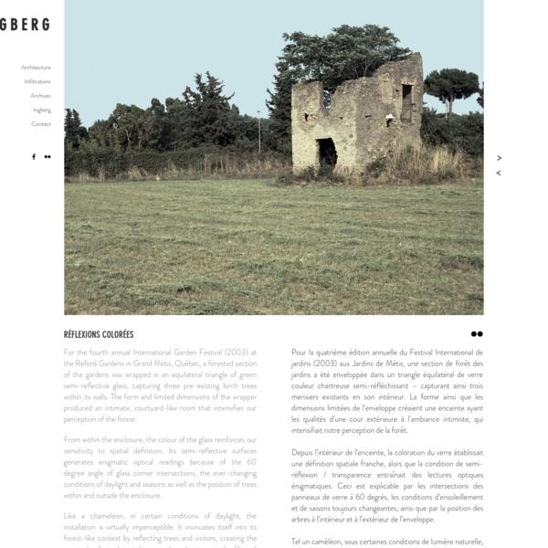 RÉFLEXIONS C | Hal Ingberg architecte