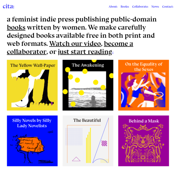 Cita: Open feminist books for both print and web