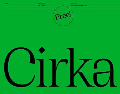 Cirka Free Typeface