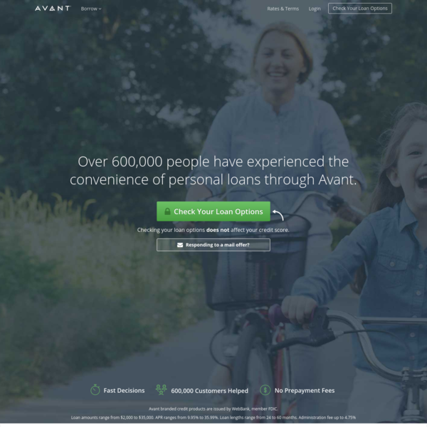 Personal Loans | Online Loans - Avant