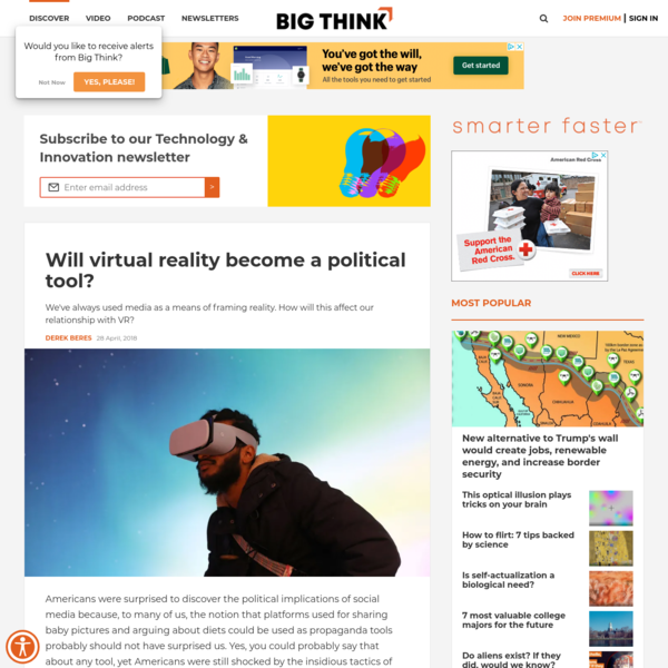 Will virtual reality become a political tool?