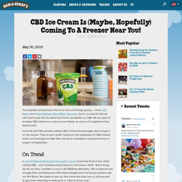 CBD Statement | Ben & Jerry's