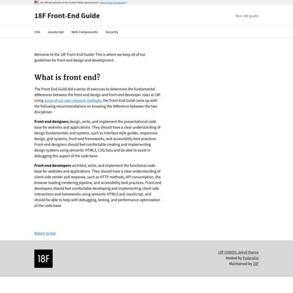 18F Front-End Guide   18F Front-End Guide