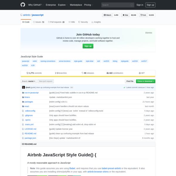 airbnb/javascript