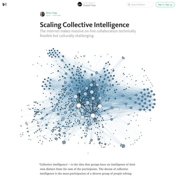 Scaling Collective Intelligence - Enspiral Tales