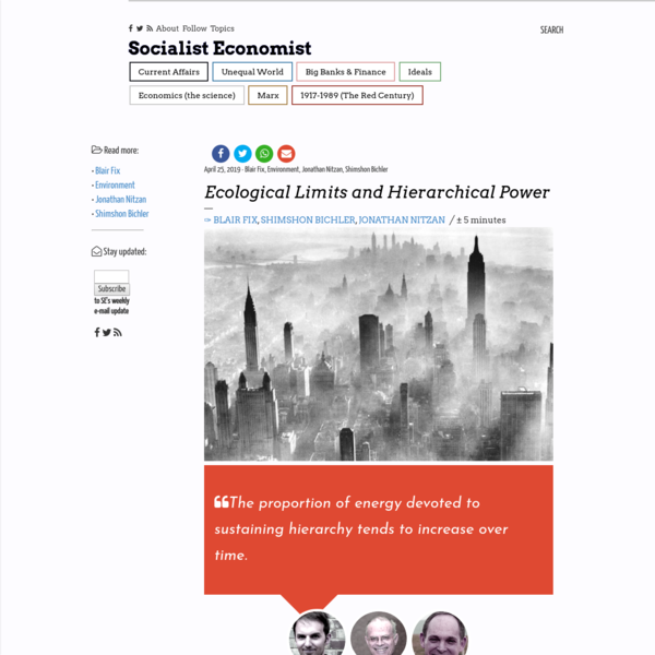 Ecological Limits and Hierarchical Power