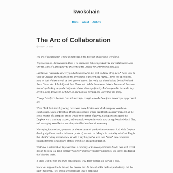 The Arc of Collaboration
