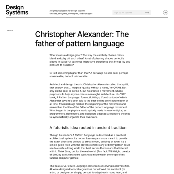 Christopher Alexander and the history of design systems