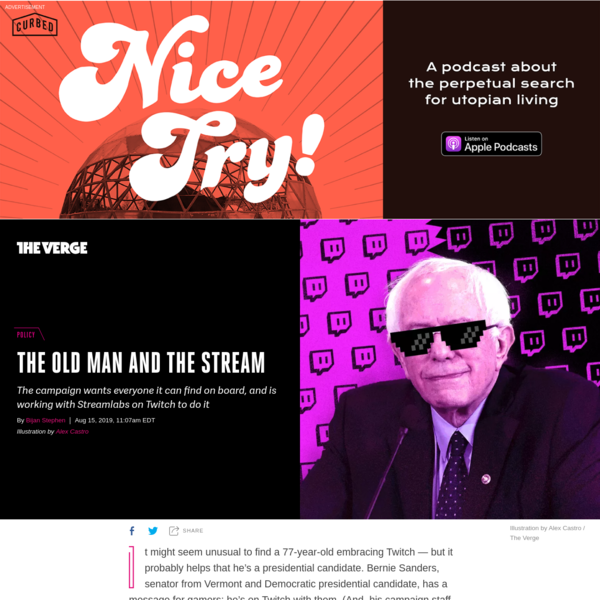 Bernie Sanders joined Twitch to reach people where they are