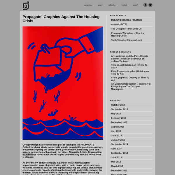 Propagate! Graphics Against The Housing Crisis - Occupy Design UK
