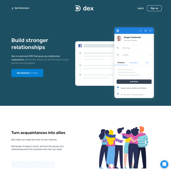 Dex - the personal CRM you'll want to use.