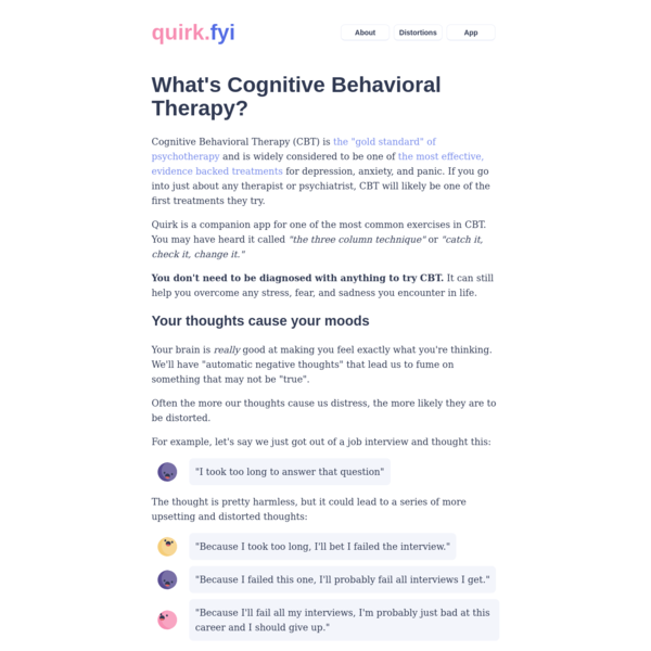 What's Cognitive Behavioral Therapy?